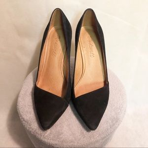 Madewell Black Pointed 3 in Heels Size 6 1/2